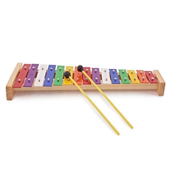 15 Note Rainbow Glockenspiel by Gear4music
