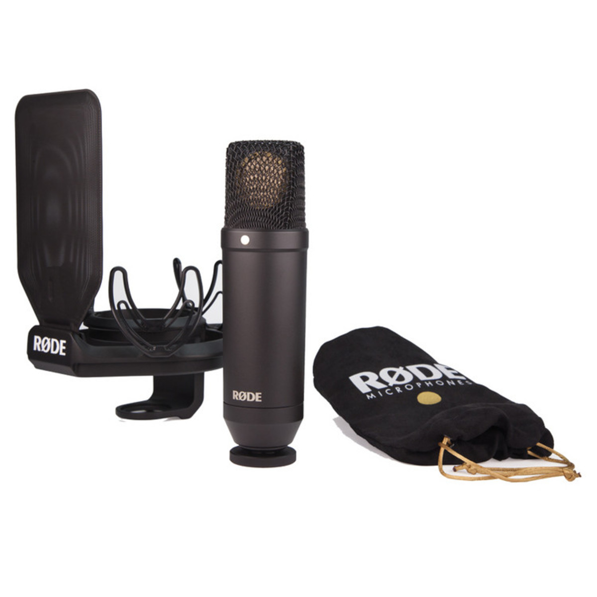 Click to view product details and reviews for Rode Nt1 Kit Studio Condenser Microphone Shock Mount And Pop Filter Box Opened.