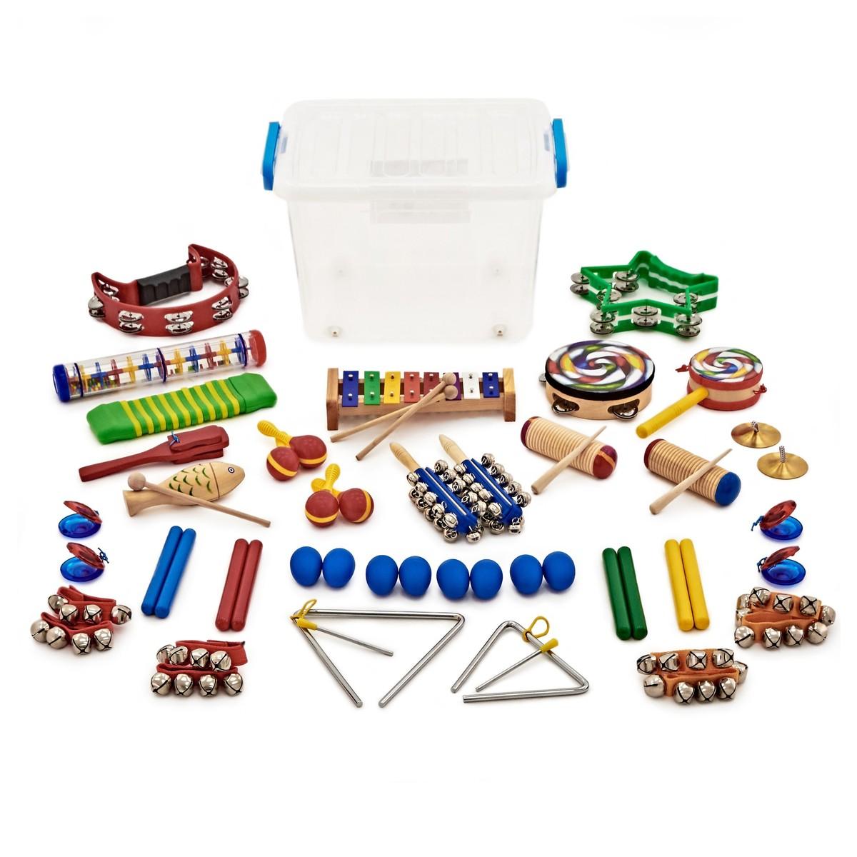 32pc KS1 Rainbow Classroom Percussion Set by Gear4music