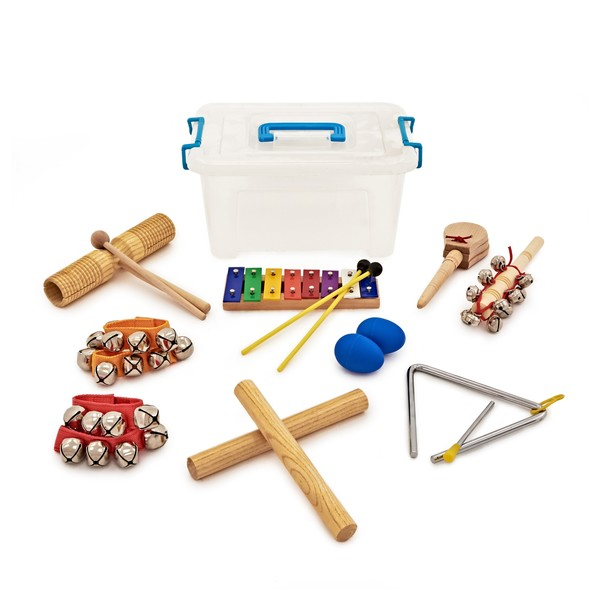 Rhythm Selection 9 Piece Kids Percussion Set by Gear4music