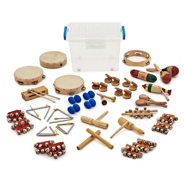 36pc KS2 Drum and Jingle Classroom Percussion Set by Gear4music