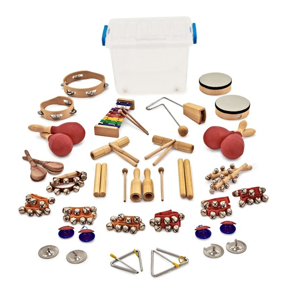 32pc Orchestral Classroom Percussion Set by Gear4music