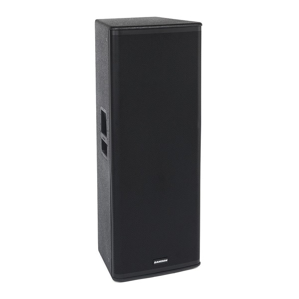 Samson RSX215 Dual 15'' Passive PA Speaker, Front Angled Right