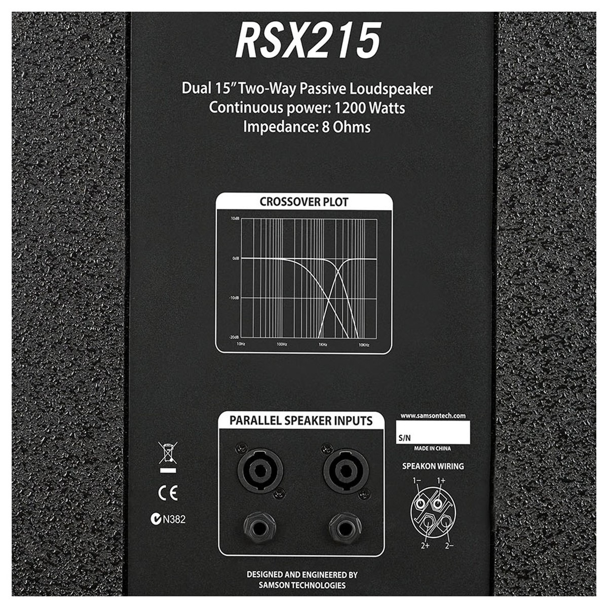 Samson Rsx215 Dual 15 Passive Pa Speaker At Gear4music Wiring Parallel Speakers Back Loading Zoom