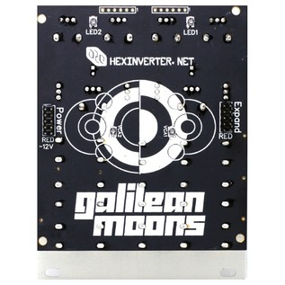 Hexinverter Galilean Moons Dual VCA and Function Generator Eurorack Module - Rear