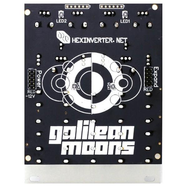 Hexinverter Galilean Moons Dual VCA and Function Generator Eurorack Module - Rear