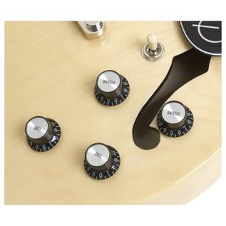 Epiphone ES-339 Pro Guitar Nickel HW, Natural Close Knob