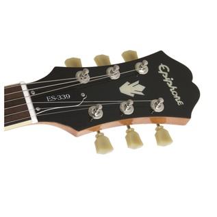 Epiphone ES-339 Pro Guitar Nickel HW, Natural HEadstock