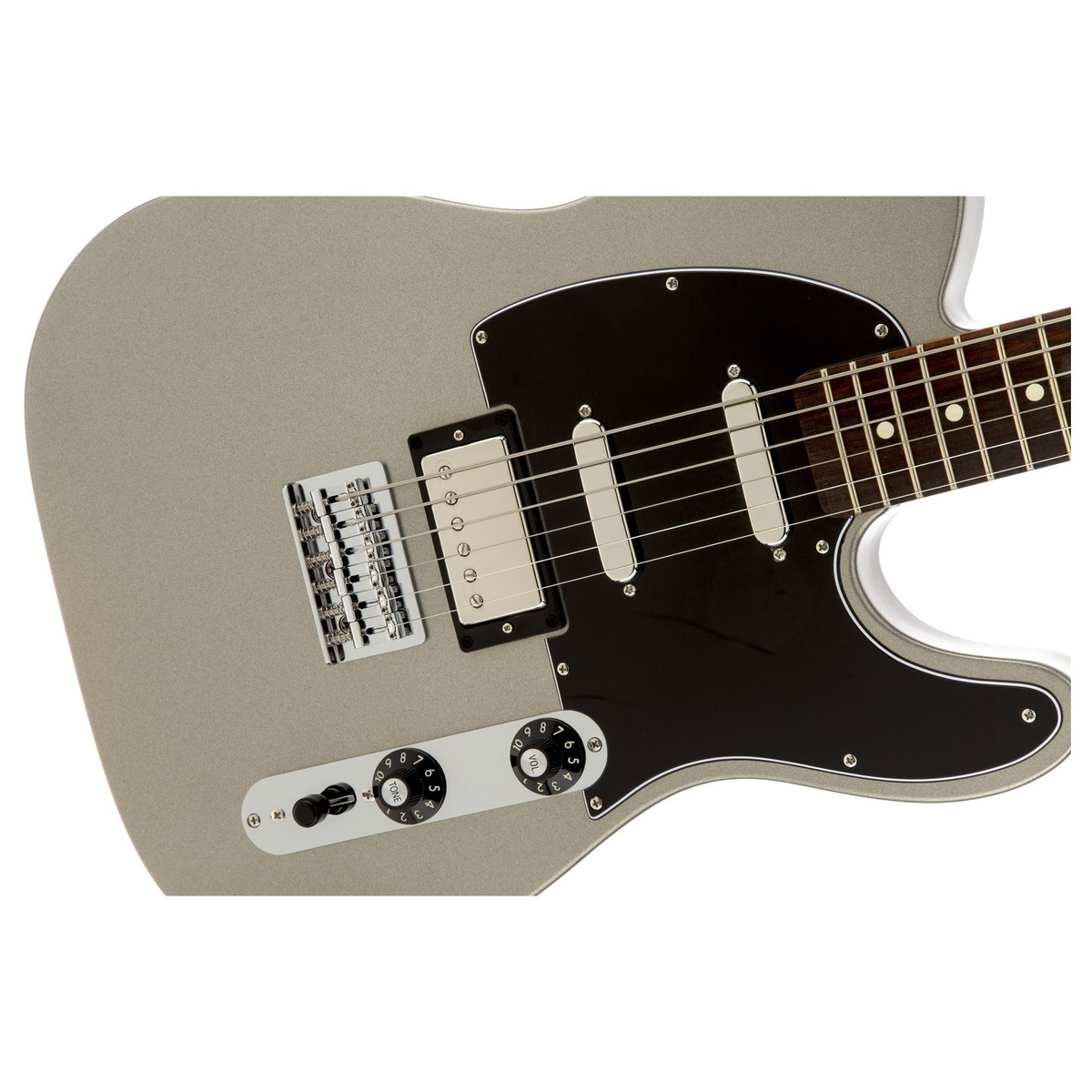Fender Blacktop Telecaster Baritone, Ghost Silver Close. Loading zoom