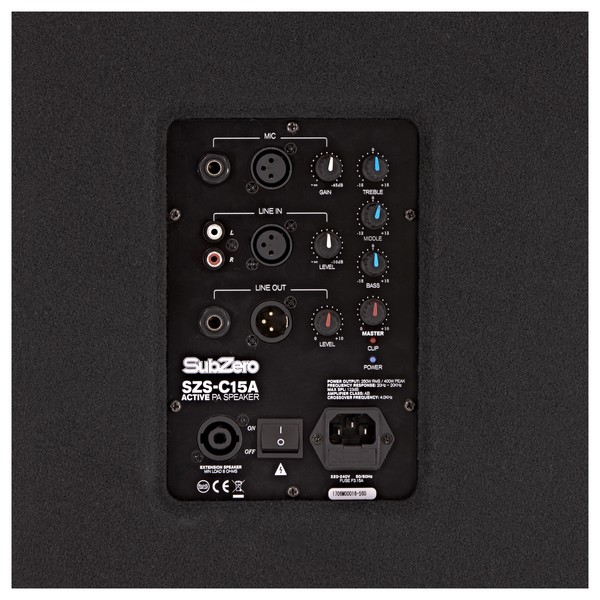 "SubZero 400W 15"" Active PA Speaker"
