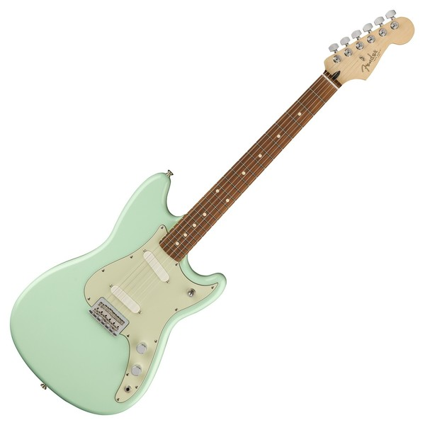 Fender Duo-Sonic Electric Guitar, Pau Ferro, Surf Green