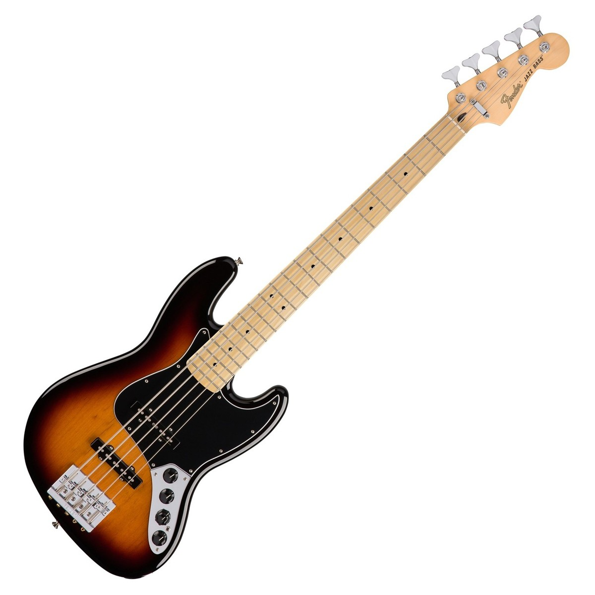 fender deluxe active jazz bass guitar v mn 3 colour sunburst at. Black Bedroom Furniture Sets. Home Design Ideas
