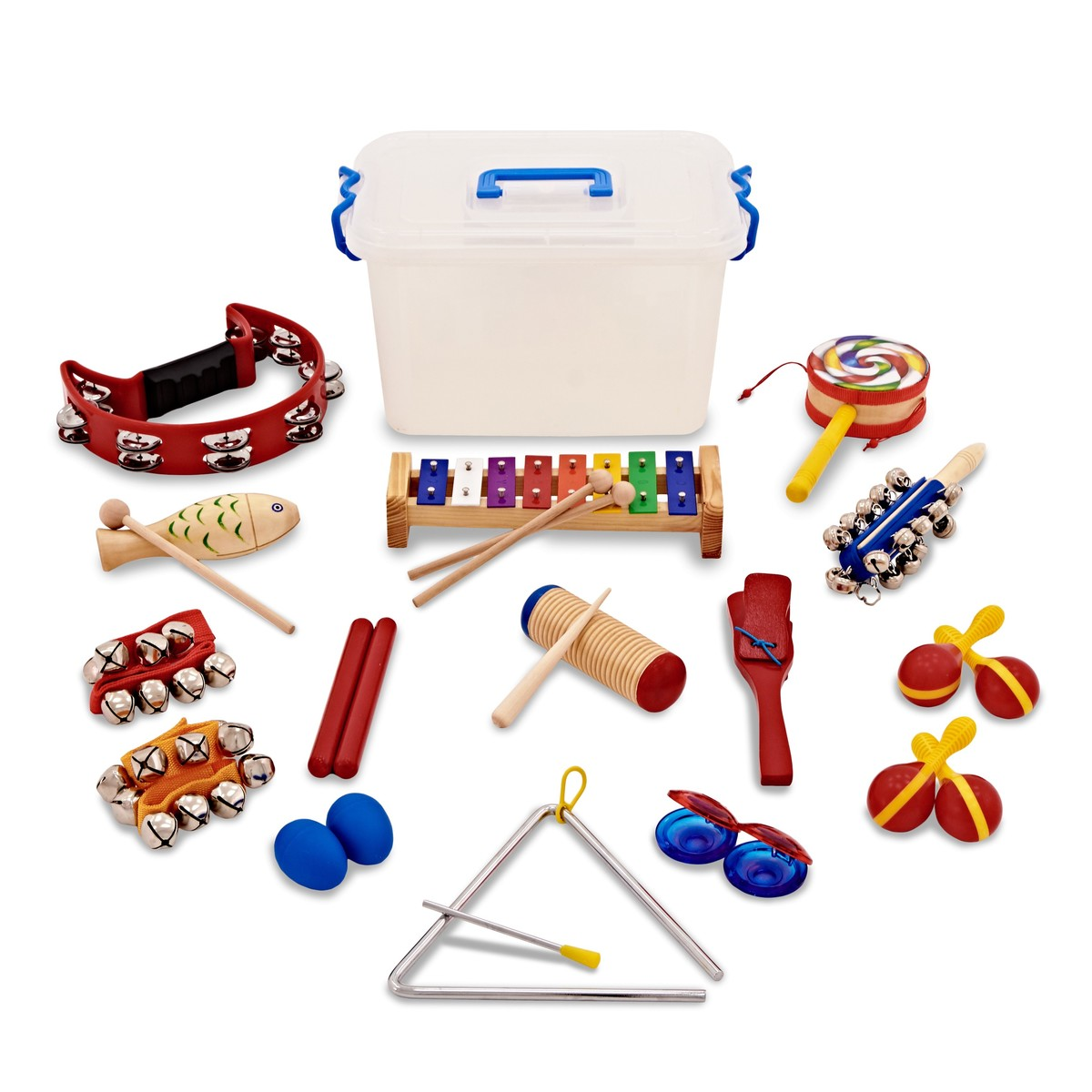 15pc KS1 Rainbow Classroom Percussion Set by Gear4music