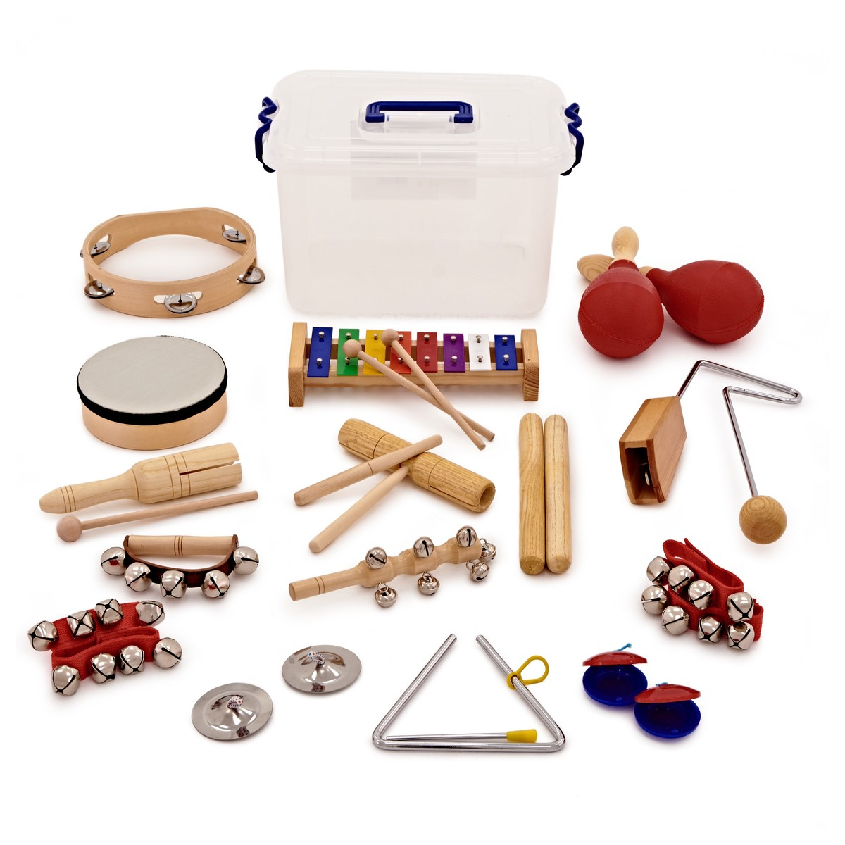 15pc Orchestral Classroom Percussion Set by Gear4music