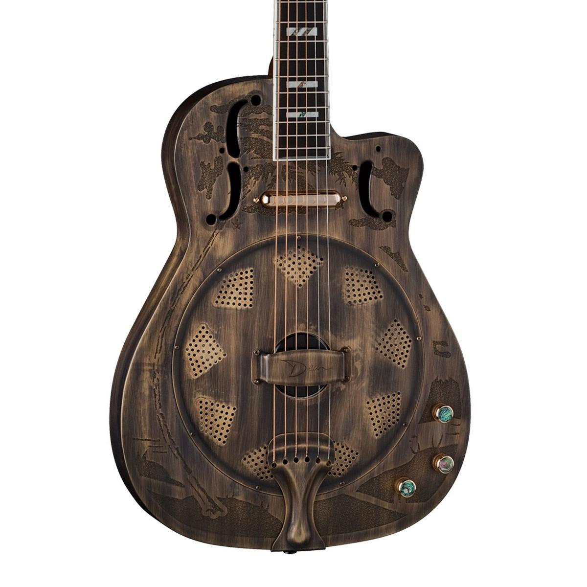 dean resonator thin body electric resonantor guitar brass b stock at gear4music. Black Bedroom Furniture Sets. Home Design Ideas