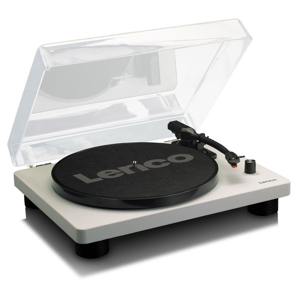 Lenco LS-50 Turntable, Grey - Angled