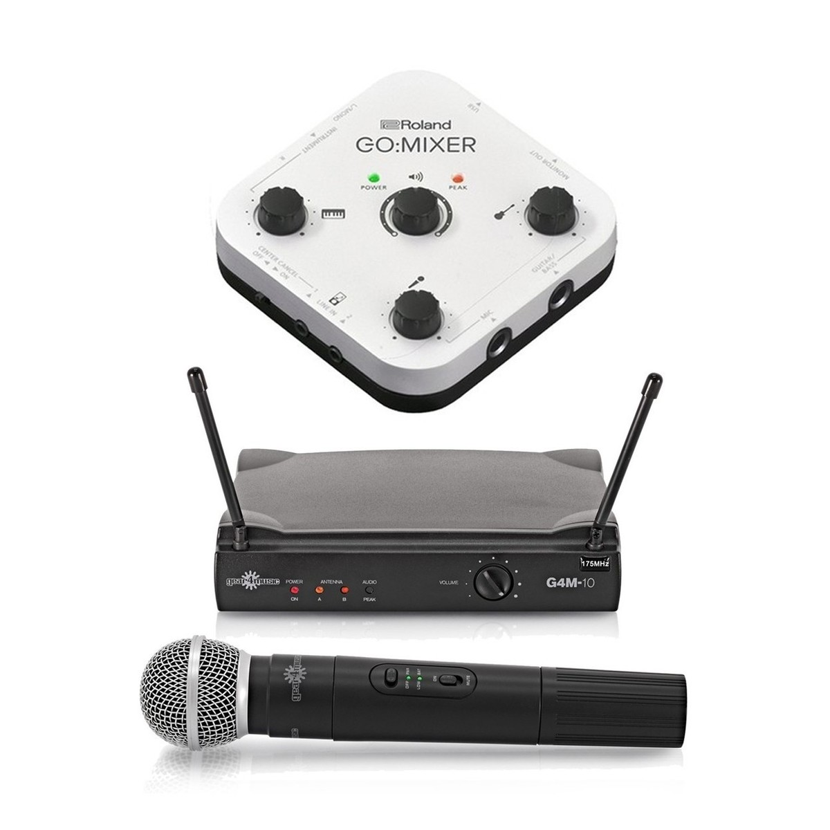 Roland Gomixer Mixer For Smartphones With Wireless Microphone Low Cost Mic System Main Loading Zoom