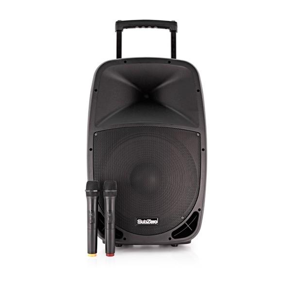 "SubZero 15"" Portable PA with Digital Media Player + Wireless Mics"
