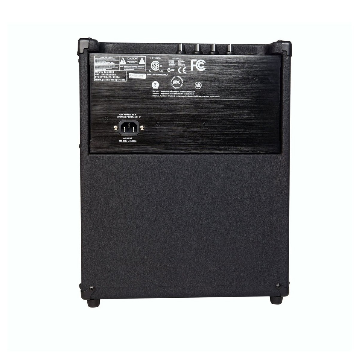 gallien krueger mb108 lightweight bass combo at gear4music. Black Bedroom Furniture Sets. Home Design Ideas