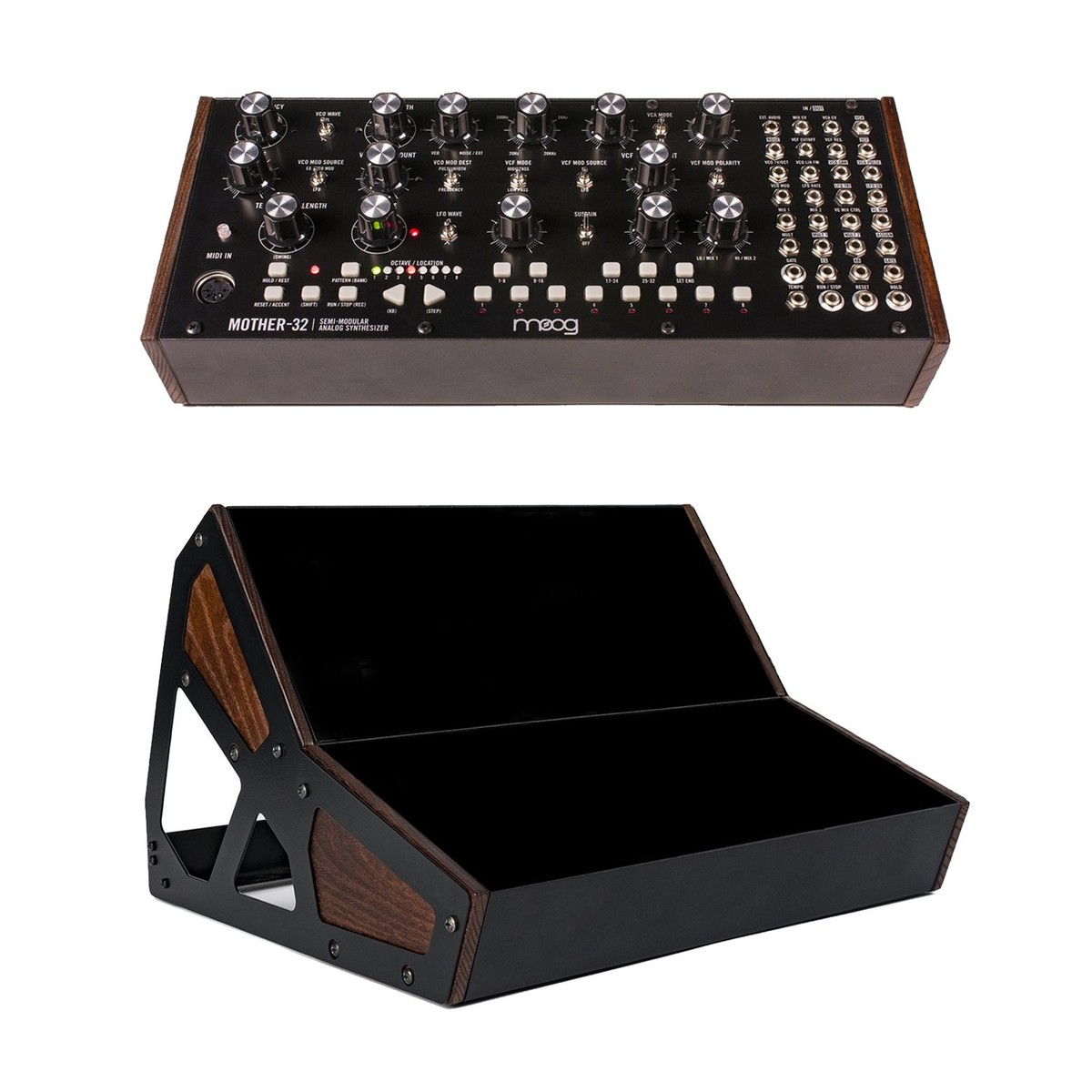 moog mother 32 analog modular synthesizer with moog double rack case at gear4music. Black Bedroom Furniture Sets. Home Design Ideas