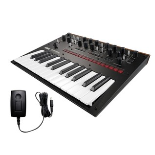 Korg Monologue Analogue Synthesizer, Black, With Free Power Supply - Bundle