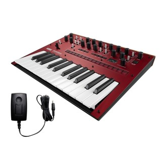 Korg Monologue Analogue Synthesizer, Red, With Free Power Supply