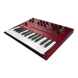 Korg Monologue Analogue Synthesizer, Red, With Free Power Supply - Angled