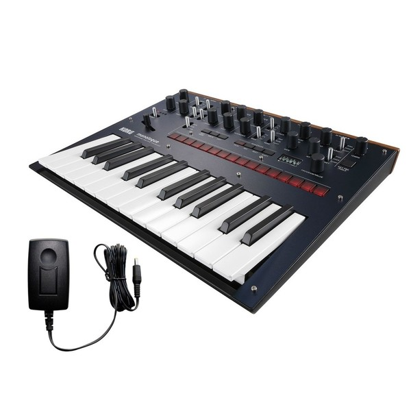 Korg Monologue Analogue Synthesizer, Blue, With Free Power Supply - Bundle