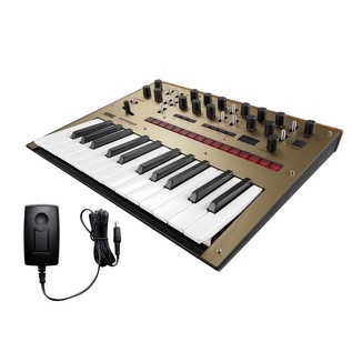 Korg Monologue Analogue Synthesizer, Gold, With Free Power Supply - Bundle