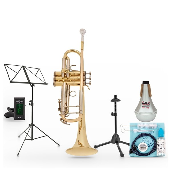 B&S Challenger 1 Trumpet, Clear Lacquer Pack