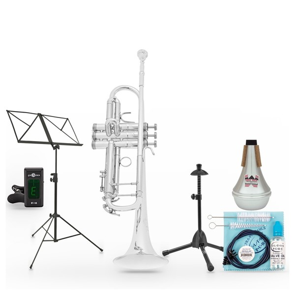 B&S Challenger I Trumpet, Silver Plated Pack