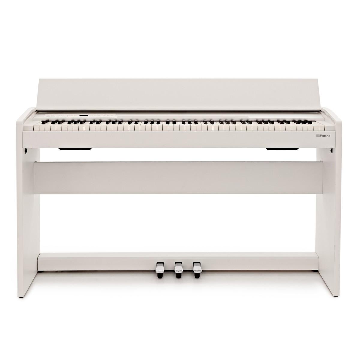 roland f140r digital piano white at gear4music. Black Bedroom Furniture Sets. Home Design Ideas