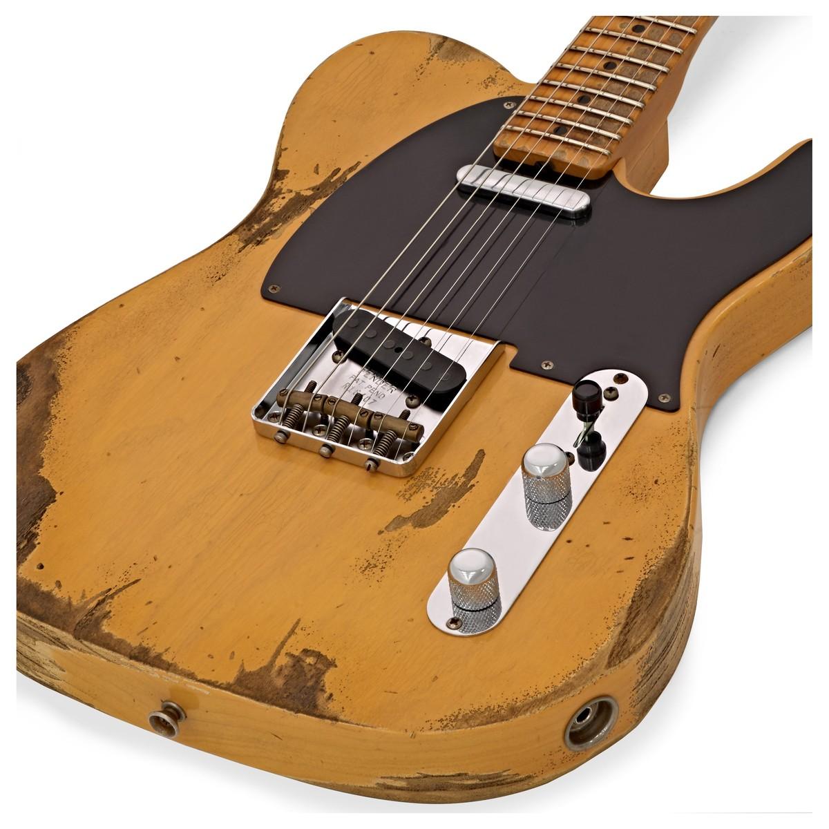 fender custom shop 1953 heavy relic telecaster butterscotch r16407 at gear4music. Black Bedroom Furniture Sets. Home Design Ideas
