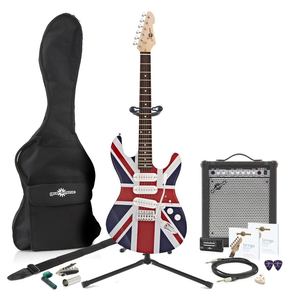 Click to view product details and reviews for La Electric Guitar 35w Complete Amp Pack Union Jack.