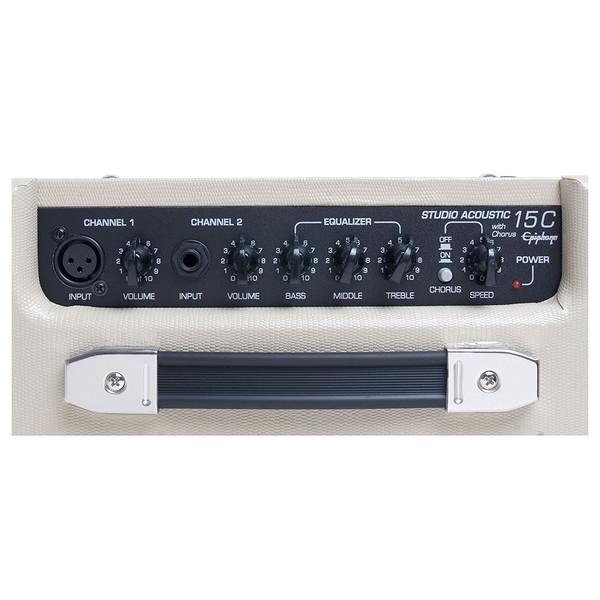 Epiphone PR-4E Electro Acoustic Player Pack amp controls