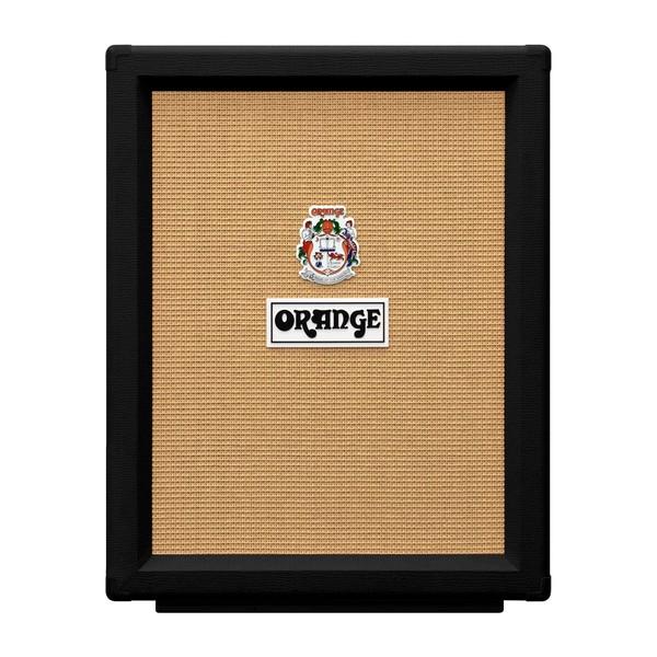 Orange PPC212V Vertical Open Back 2x12 Cabinet, Black front