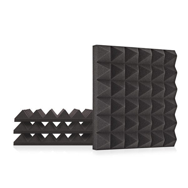 AcouFoam 30cm Acoustic Panels by Gear4music, Pack of 4