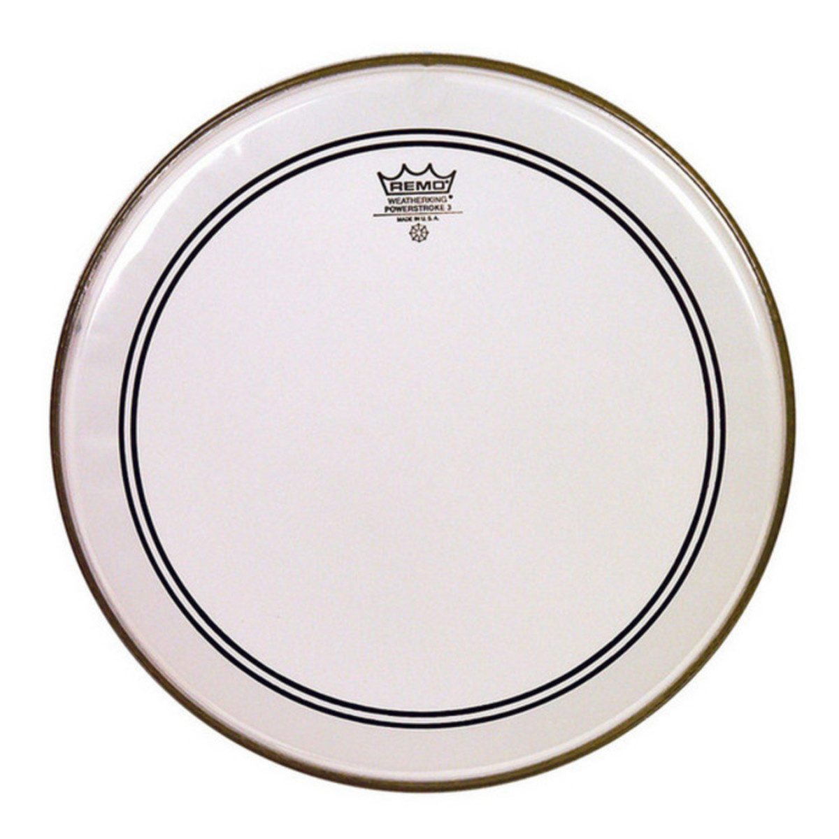 remo powerstroke 3 clear bass drum head with falam 24 39 39 box opened at gear4music. Black Bedroom Furniture Sets. Home Design Ideas