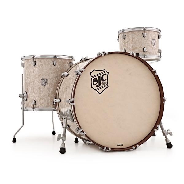 "SJC Drums Custom 24"" 3pc Shell Pack, Aged White"