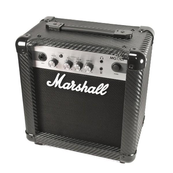 Marshall MG10CF Carbon Fibre 10W Guitar Combo front angle