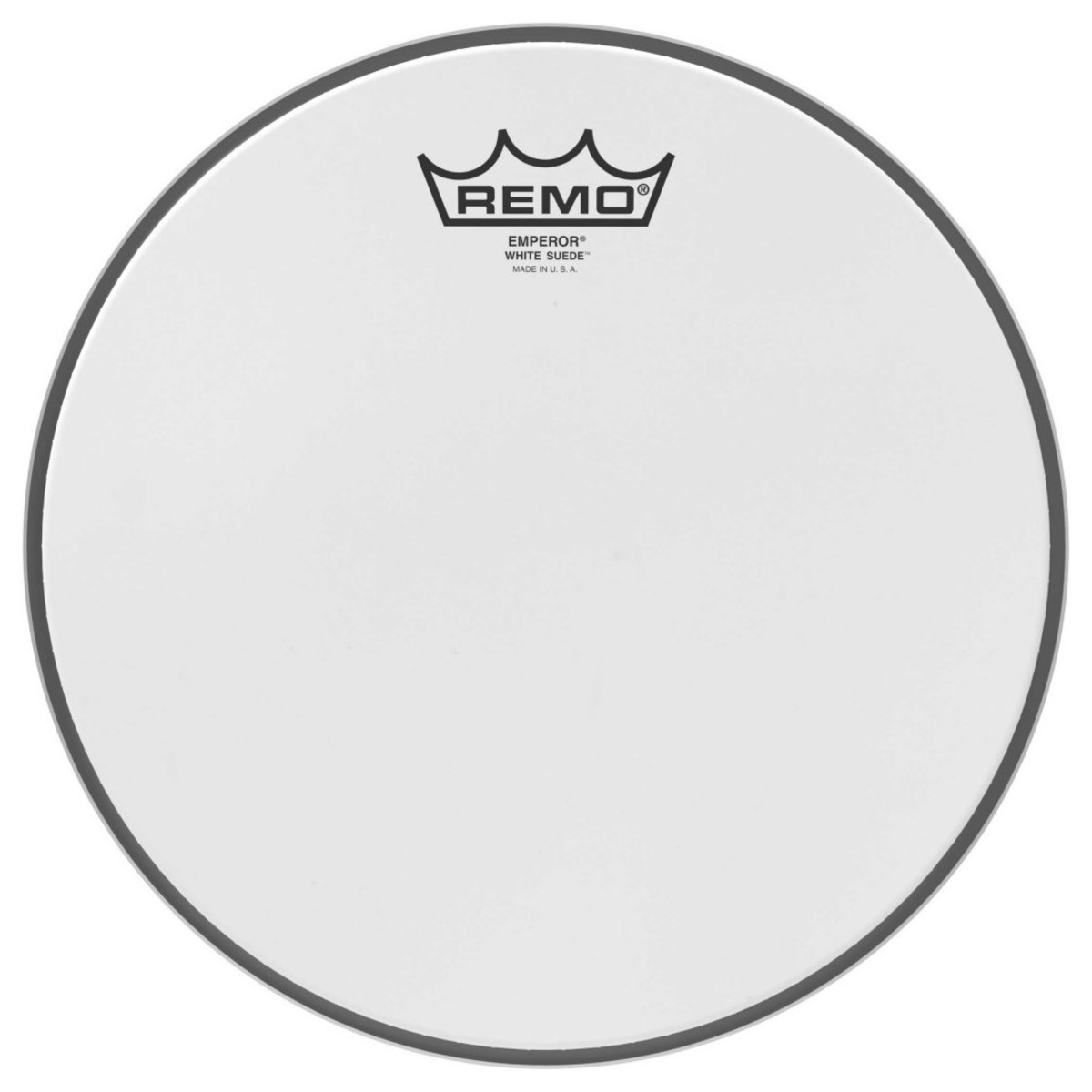 Click to view product details and reviews for Remo Emperor White Suede 12 Drum Head.