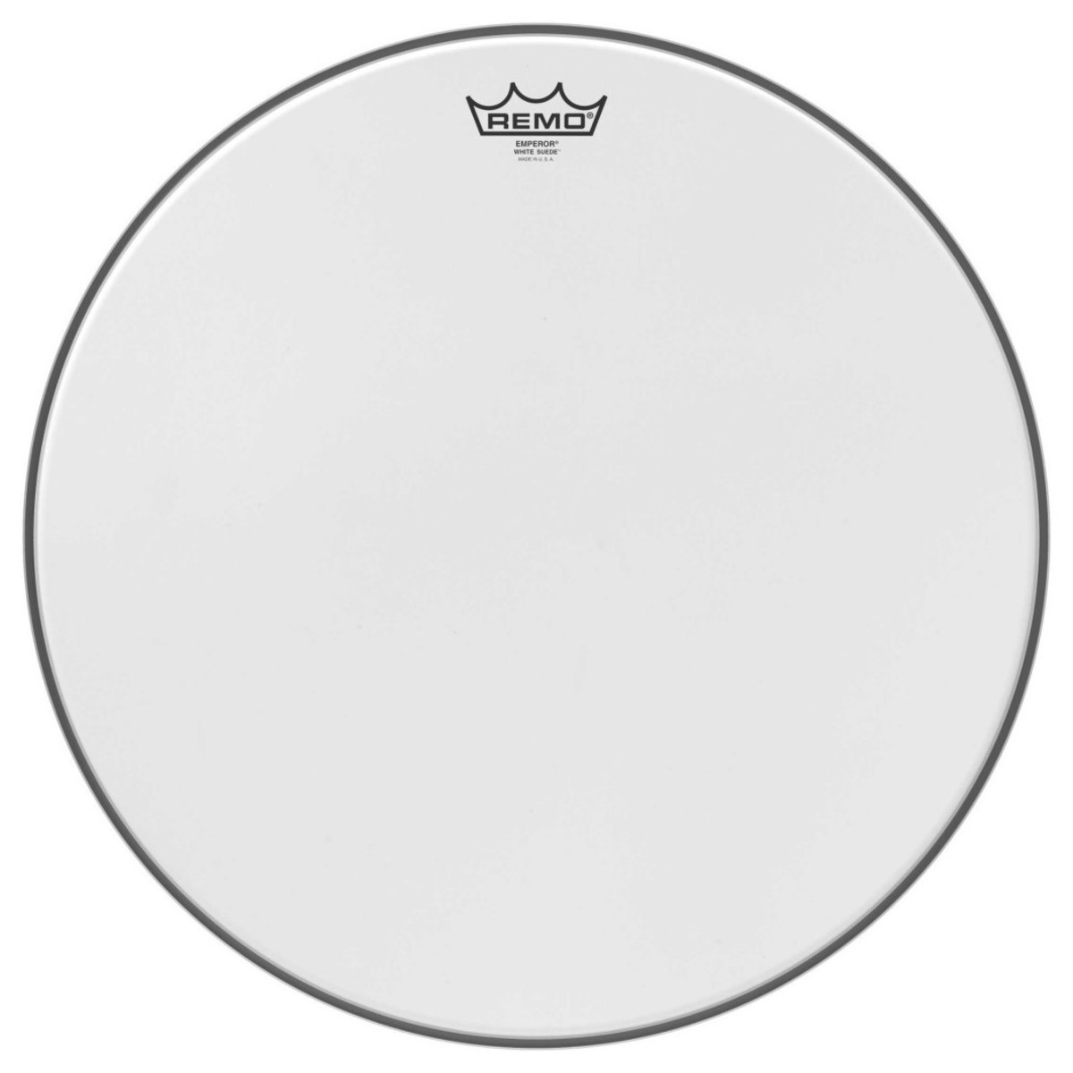 Click to view product details and reviews for Remo Emperor White Suede 18 Drum Head.