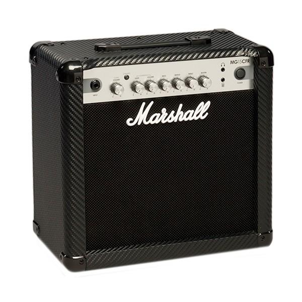 Marshall MG15CFR Carbon Fibre 15W Guitar Combo with Reverb angle