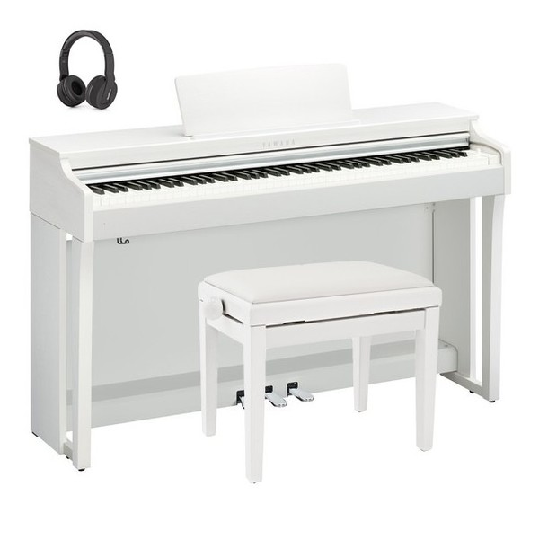 Yamaha CLP 625 Digital Piano Package, Satin White