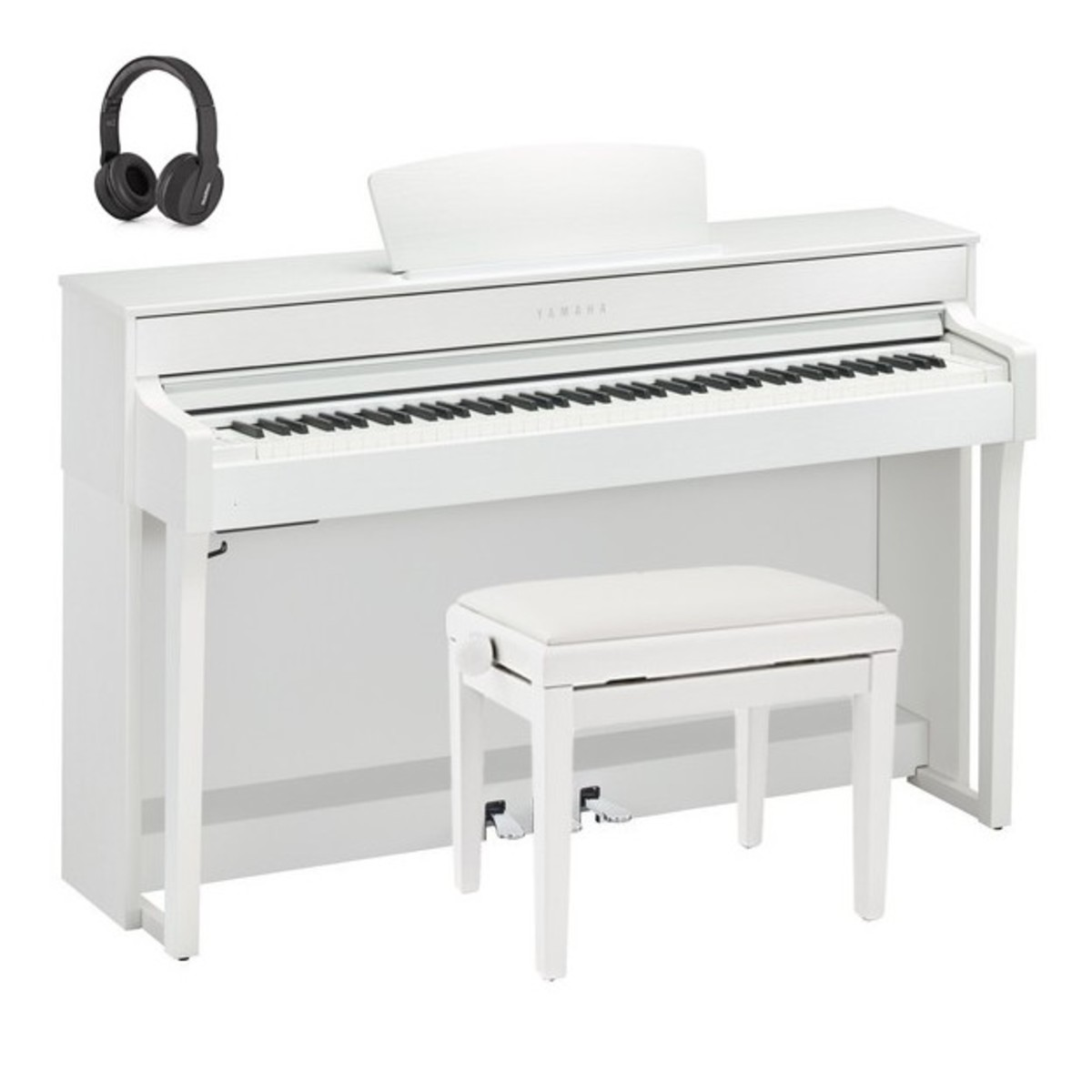 yamaha clp 635 digital piano package satin white at gear4music. Black Bedroom Furniture Sets. Home Design Ideas