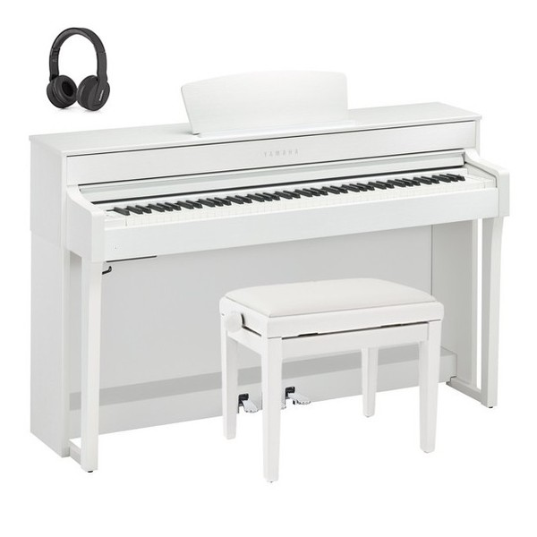 Yamaha CLP 635 Digital Piano Package, Satin White