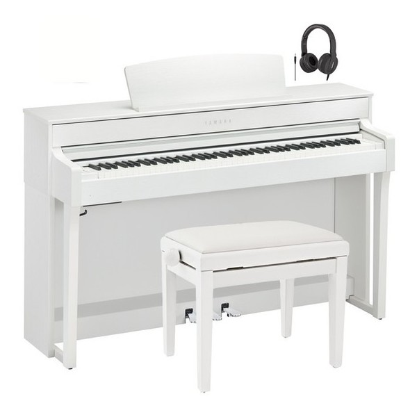Yamaha CLP 645 Digital Piano Package, White