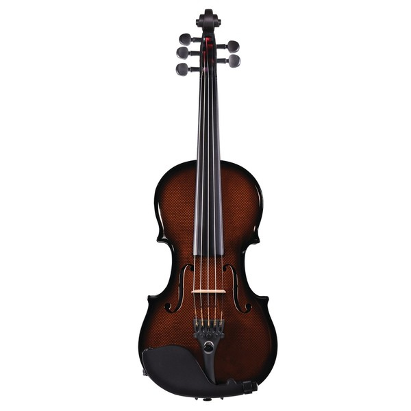 Glasser Carbon Composite Violin - Orange, 5 String, Front