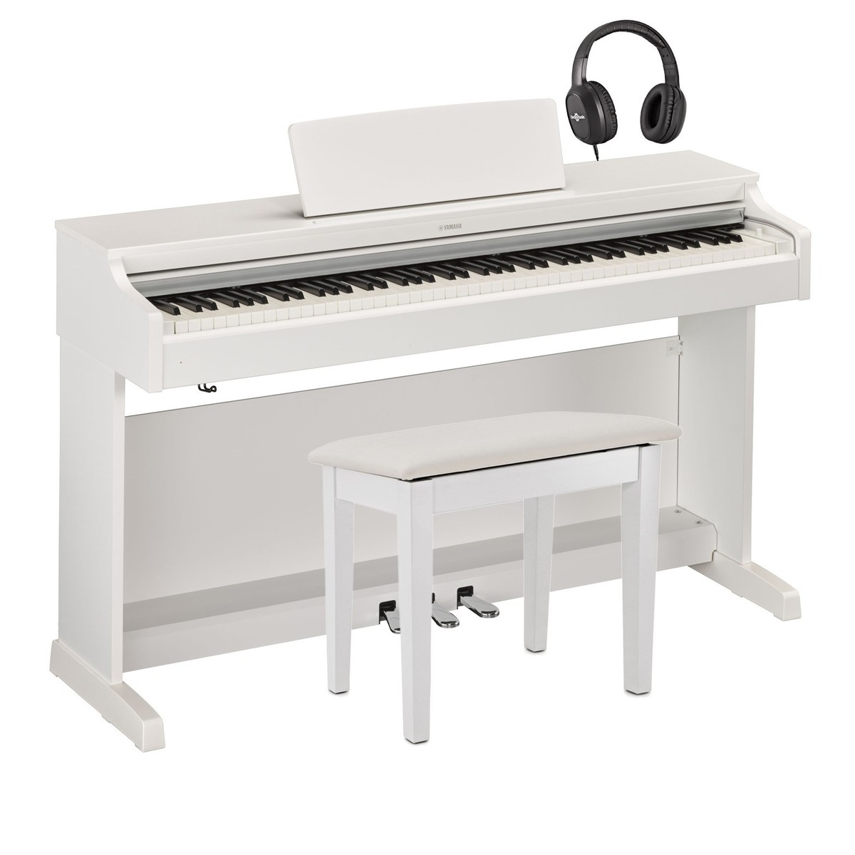 yamaha ydp 163 digital piano package white at gear4music. Black Bedroom Furniture Sets. Home Design Ideas