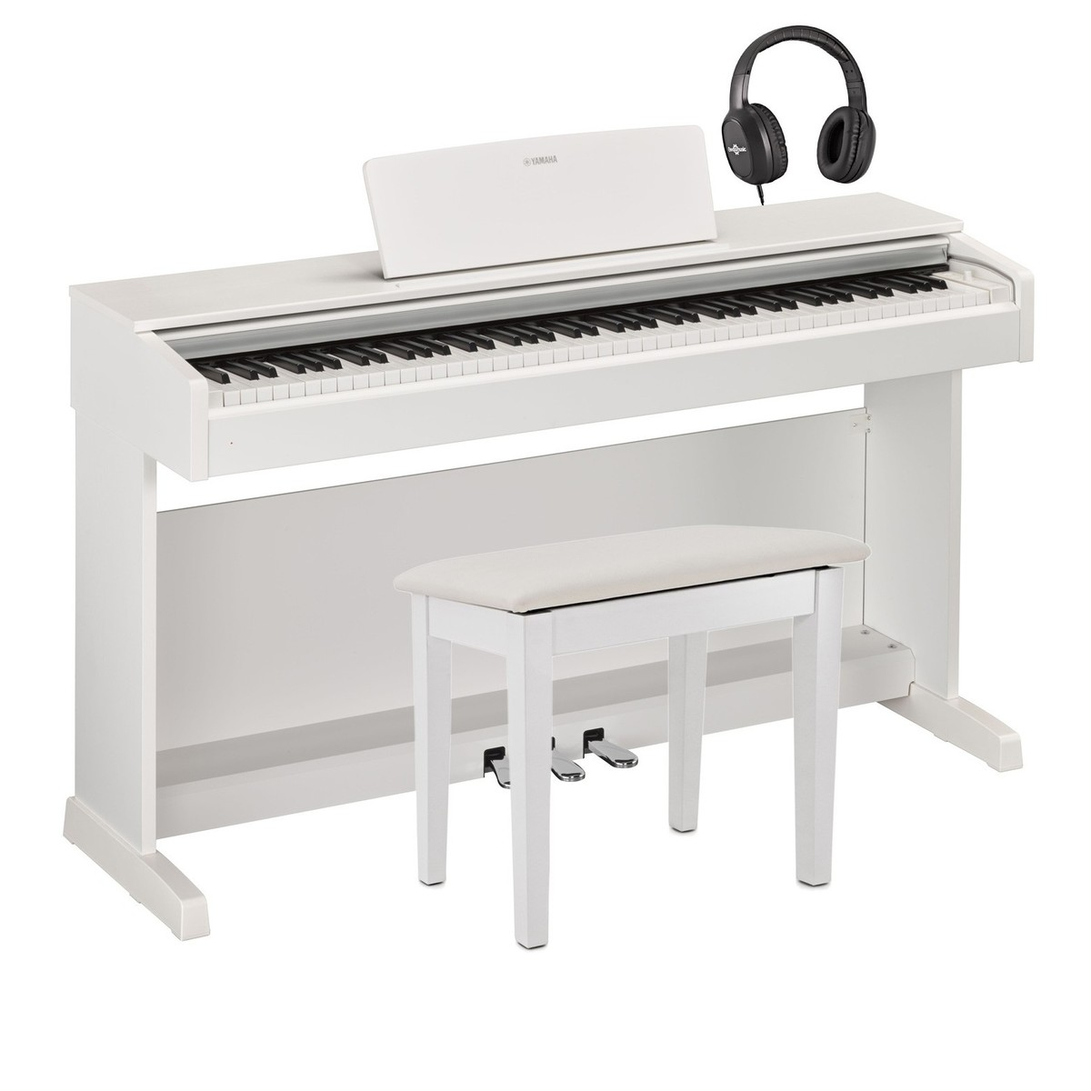 yamaha ydp 143 digital piano package white at gear4music. Black Bedroom Furniture Sets. Home Design Ideas